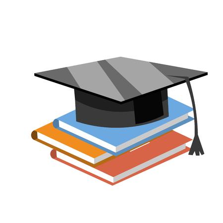 Books with the graduate cap