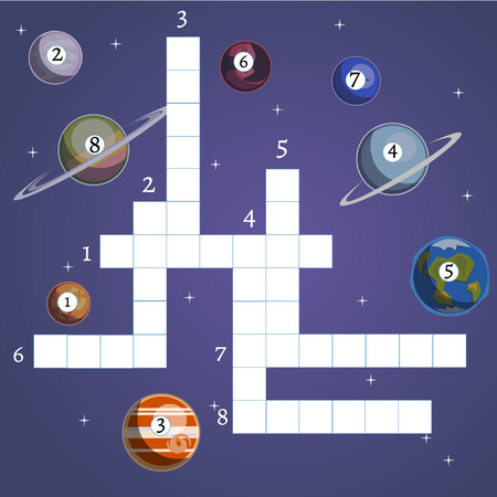 Board game with Planet and Space. Vector Illustration.