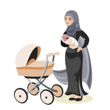 Moslim familie moeder en dochter