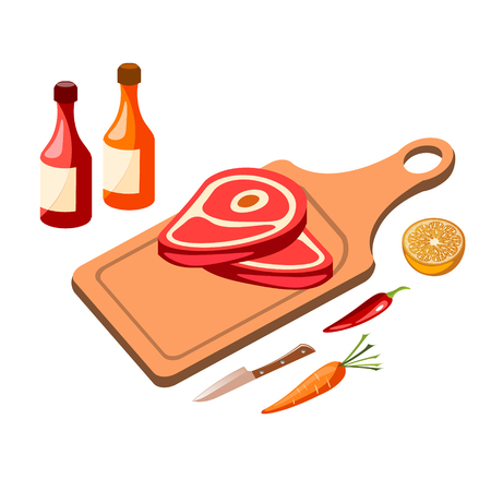 Red meat icon illustration