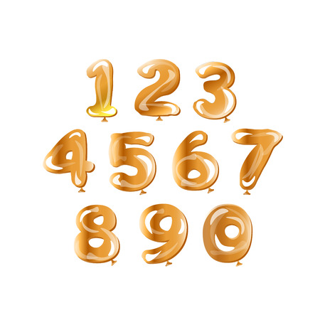 Golden number set balloon.