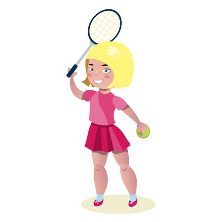 Young beautiful girl tennis player.