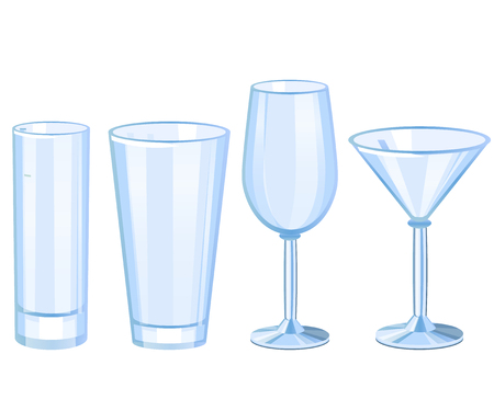 Set of cocktail glasses collection