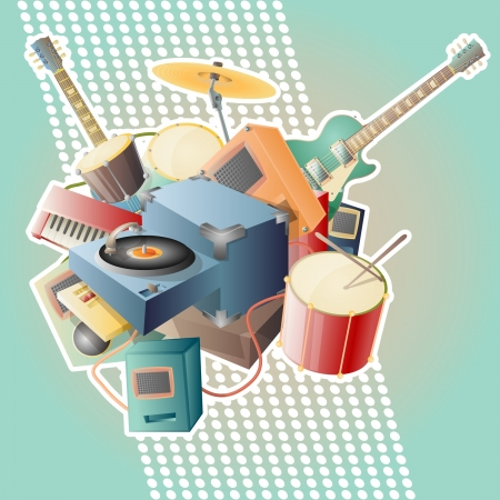 music abstract vector illustration Illustration