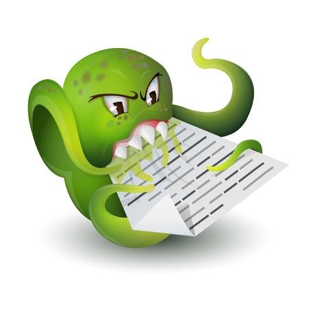 virus file vektor illustration