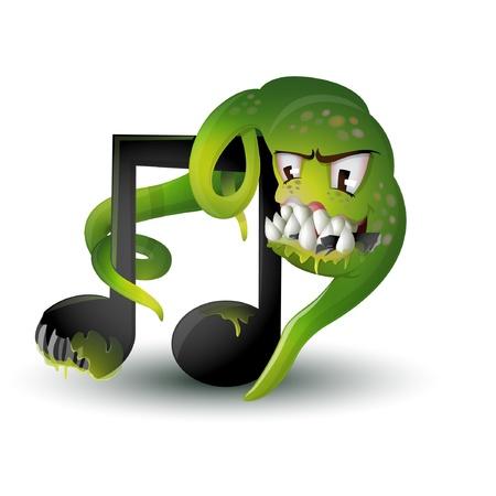 virus music illustration
