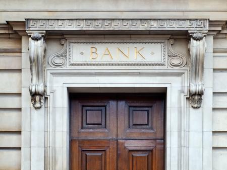 Bank building entrance Stock Photo - 8905646