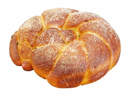 Sweet easter bread isolated  photo