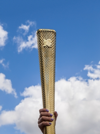 olympic symbol: Olympic torch of the 2012 Olympic Games in London