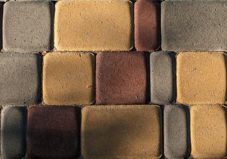 Abstract mix color tiles. Street floor ceramic tiles background.