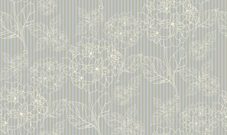 Flower seamless pattern with hydrangeas.