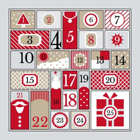 Advent calendar vector illustration. Illustration