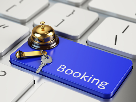 online transaction: Online Booking concept