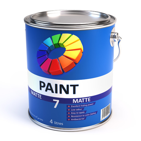 leakage: Paint can Illustration Stock Photo