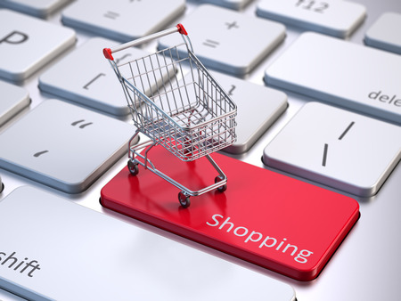shopping cart online shop: Online shopping concept