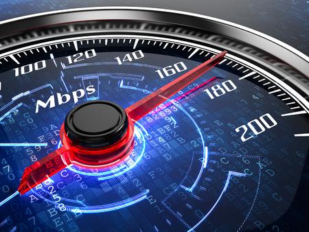 compteur de vitesse: concept de connexion Internet haut débit