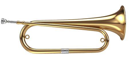 flugelhorn: Bugle isolated on white Stock Photo