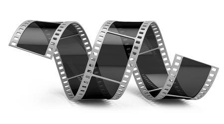 Film geïsoleerd op wit