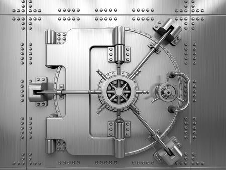 caja fuerte: Puerta de la caja fuerte del Banco