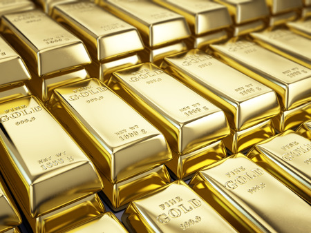 Fine Gold Bars Standard-Bild