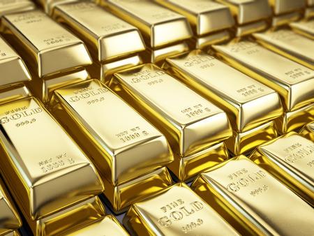 wealth concept: Fine Gold Bars Stock Photo