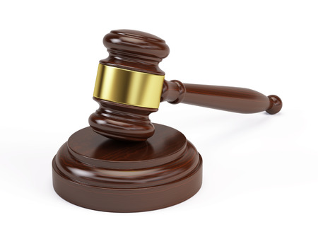 proceedings: Wooden gavel from the court
