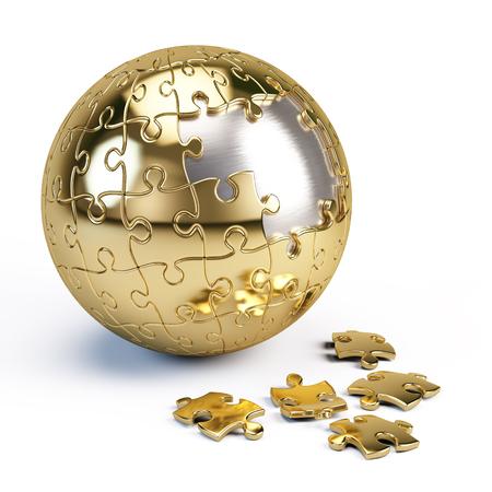 sphere: Puzzle sphere Stock Photo