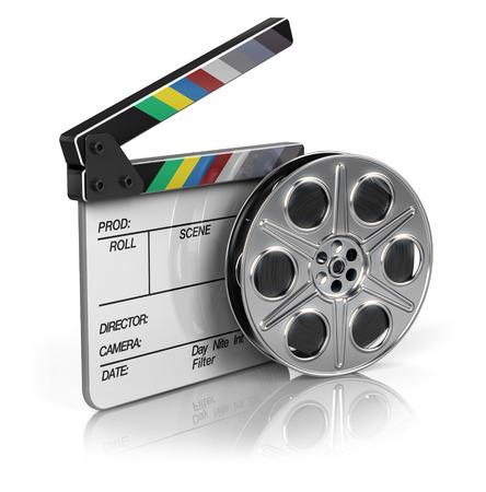 Film e Clapper bordo - icona del video Archivio Fotografico