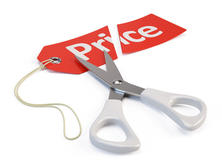 attention: Price cut Stock Photo