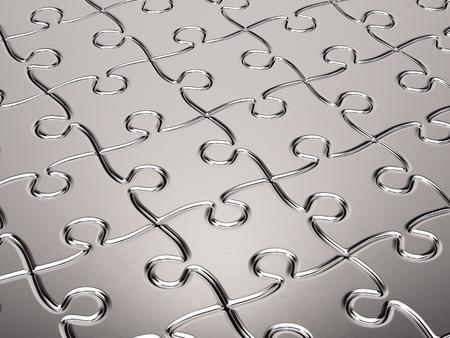 cromo: fondo del rompecabezas de metal