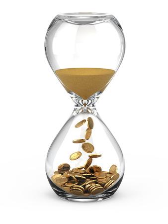 sands of time: Time is money concept Stock Photo