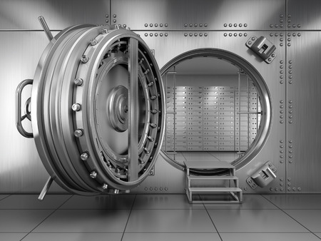 offen: Offene Bank Vault Tür