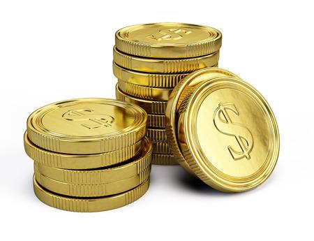 金のコイン 写真素材