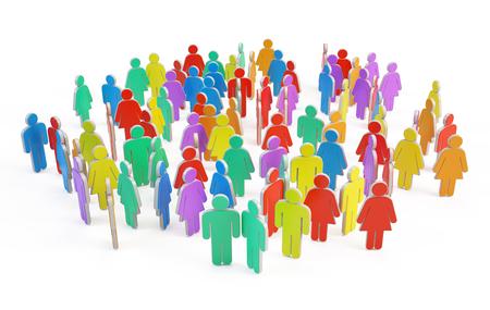 Sociale groep mensen Stockfoto