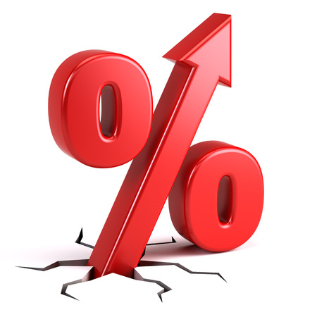 Percentage sign with UP arrow