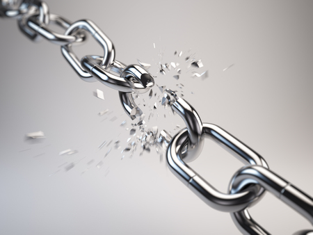 tether: Chain breaking Stock Photo