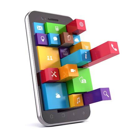 smartphone apps: Smartphone with apps