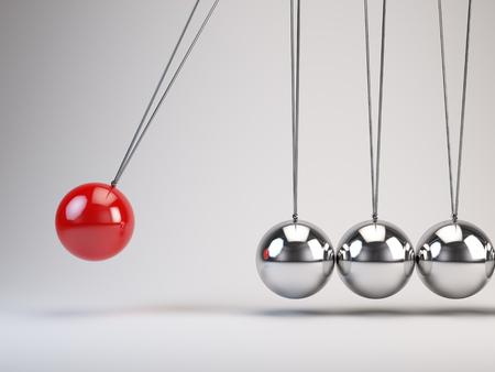 Balancing Bälle Newtons Wiege Standard-Bild
