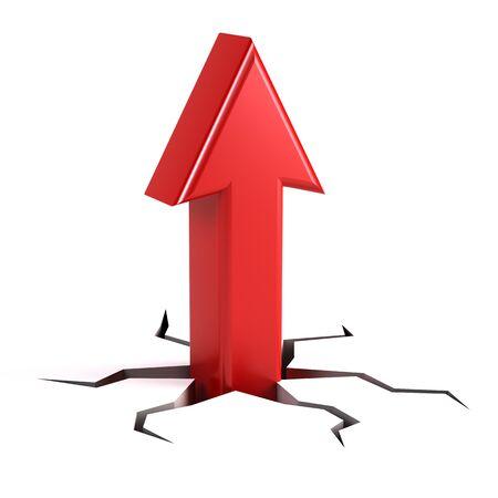 success concept: Up arrow - success concept