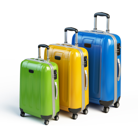 travel icon: suitcases - travel, luggage icon Stock Photo