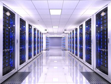 computer business: Server room Stock Photo