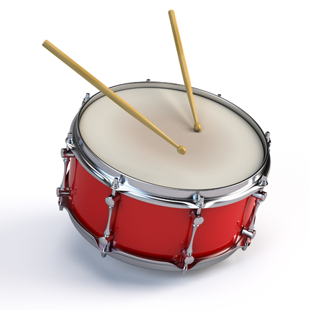 Bass drum isolated on white Foto de archivo