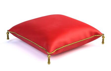 red velvet: Royal red velvet pillow isolated on white
