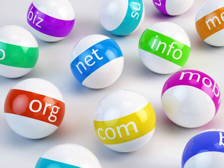 internet marketing: Domain names and internet concept Stock Photo