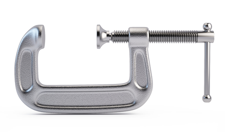 c clamp: Clamp tool isolated on white background Stock Photo