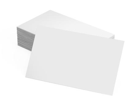 Pile De Carte Visite Vierge Isol Sur Blanc Banque DImages Et