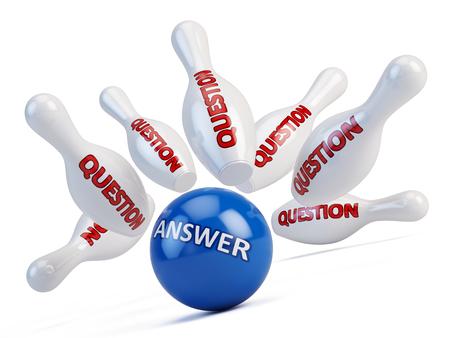 질문 개념에 대한 대답 스톡 콘텐츠
