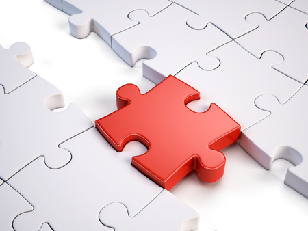 red puzzle piece: Red puzzle piece