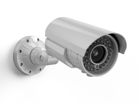 CCTV camera. Security camera isolated on white