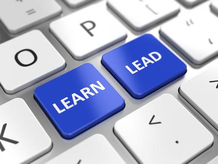 learn and lead: Learn and Lead concept - Learn and Lead key on a computer keyboard